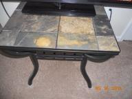 Wrought Iron Table w/tile top