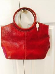 Fossil red leather purse