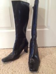 Nine West soft black leather boot