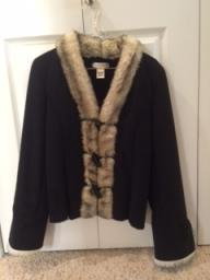 White House Black Market winter coat with fur