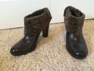 Calvin Klein brown ankel boot with fur