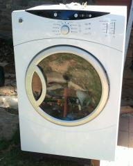 GE FRONTLOADING WASHER AND ELECTRIC DRYER