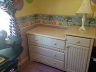 Girls Twin Sleigh Bed and Dresser