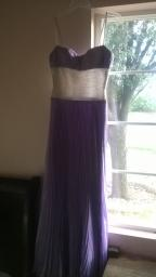 Purple and Silver Pagent/Prom dress-Size 0 Petite