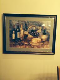 Custom framed wine picture