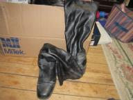 Black Highlights Calf Boots