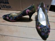 Multi-Color Caparros Heels