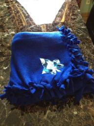 Blue Leaf Fleece Blanket