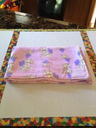 Pink Kitty Receiving Blanket