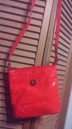 Orange Tommy Hilfiger purse