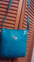 Teal Tommy Hilfiger purse