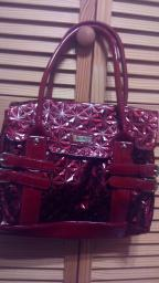 Burgundy Bluebird purse
