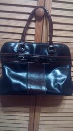Black and Brown Giani Bernini purse