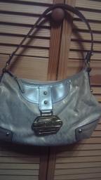 Cream and gold XOXO purse