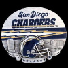NFL Pewter Belt Buckle - San Diego Chargers