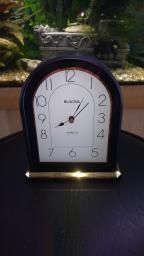 Vintage BULOVA CLOCK Gold , Black Tone,Marked Made In Germany , 6
