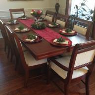 8 chair beautiful dining room set