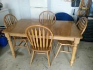 Solid Oak Kitchen Table with chairs