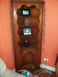 2 Antique Corner Cabinets for sale