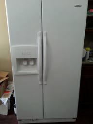 whirlpool White Side-By-Side Refrigerator/Freezer	model ED5VHEXV
