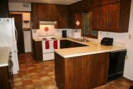 Kitchen cabinets, counters & hutch, used