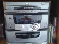 RCA 3 DISC CD CHANGER, AM//FM STEREO W/ DUAL CASSETTE PLAYER AND