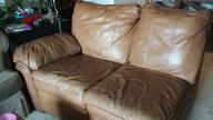 Three piece leather sectional