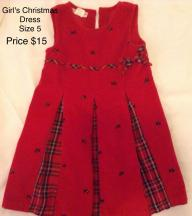 Girl's Toddler Christmas Dress