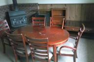 Hardwood table and 6 chair set