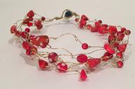 Red & Gold Coral Necklace