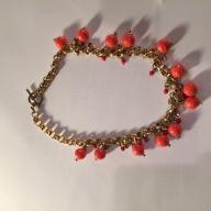 Coral Colored Bauble Choker