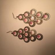 Pink Gypsy Dangles Earrings