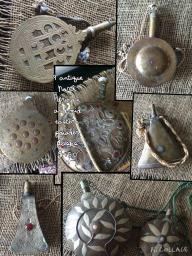 9 Piece Antique Powder Flasks