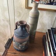 two clay vases