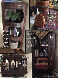 Assorted Decorative Curios and Cabinets