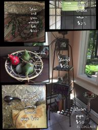 Dog Crate, Hookah, Vintage Pipes, Gourds, Iron Stand, SilverBelt