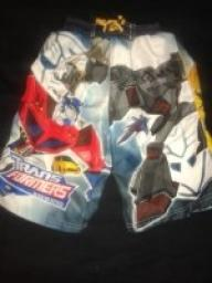 TRANSFORMERS SWIM TRUNKS SIZE 8