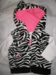 CARTERS 2 PIECE ZEBRA PRINT OUTFIT