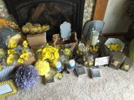 Yellow and Gray Wedding/Occasion decorations