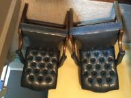 Leather chairs. Tufted back