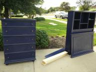 Twin bed frame and dresser