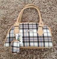 Mini plaid purse