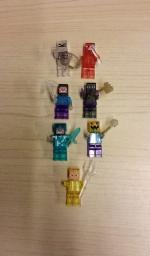 Custom Transparent Minecraft Lego Figures - $8 EACH - RARE -- NEW