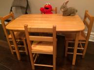 Kids Wood Table & Chairs