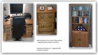 Solid Oak office furniture - Desk, Shelf, Cabinet