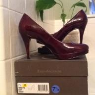 Enzo Angiolini Burgandy pumps.  7 1/2 M.  Worn once