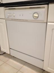 Maytag white dishwasher