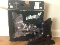 California Pro Inline Skates CP-1000 Mens Size 10. Metallic Black