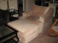 Oversize Chair and Ottoman