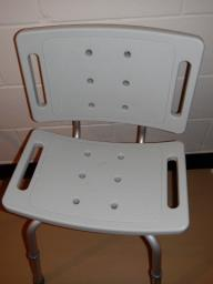 bath chair with back